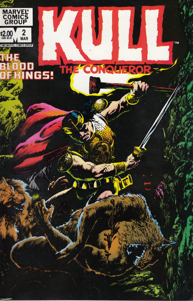 Couverture de Kull the Conqueror Vol.2 (Marvel comics - 1982) -2- The blood of the kings