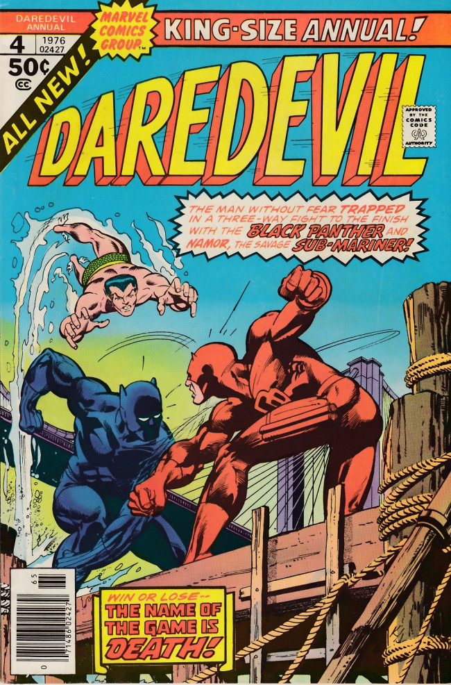 Couverture de Daredevil (1964) -AN04- The Name of the Game is... Death!