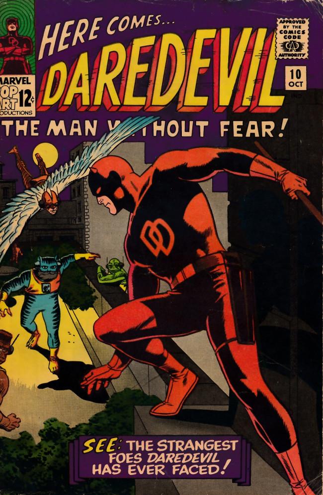 Couverture de Daredevil (1964) -10- While the City Sleeps