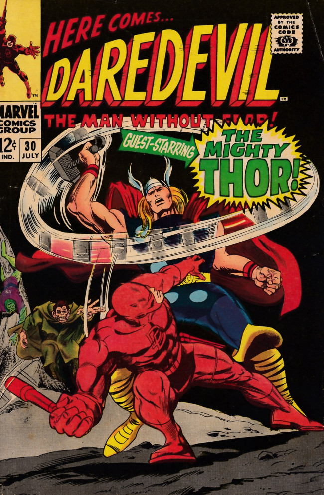 Couverture de Daredevil (1964) -30- If ther should be a thunder god!