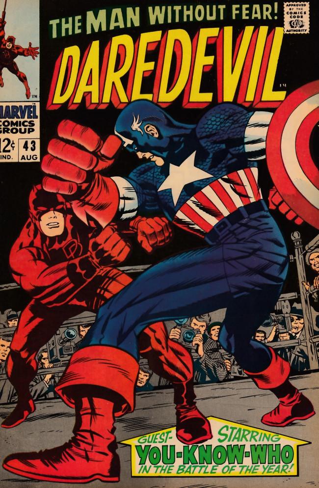 Couverture de Daredevil (1964) -43- In Combat with Captain America