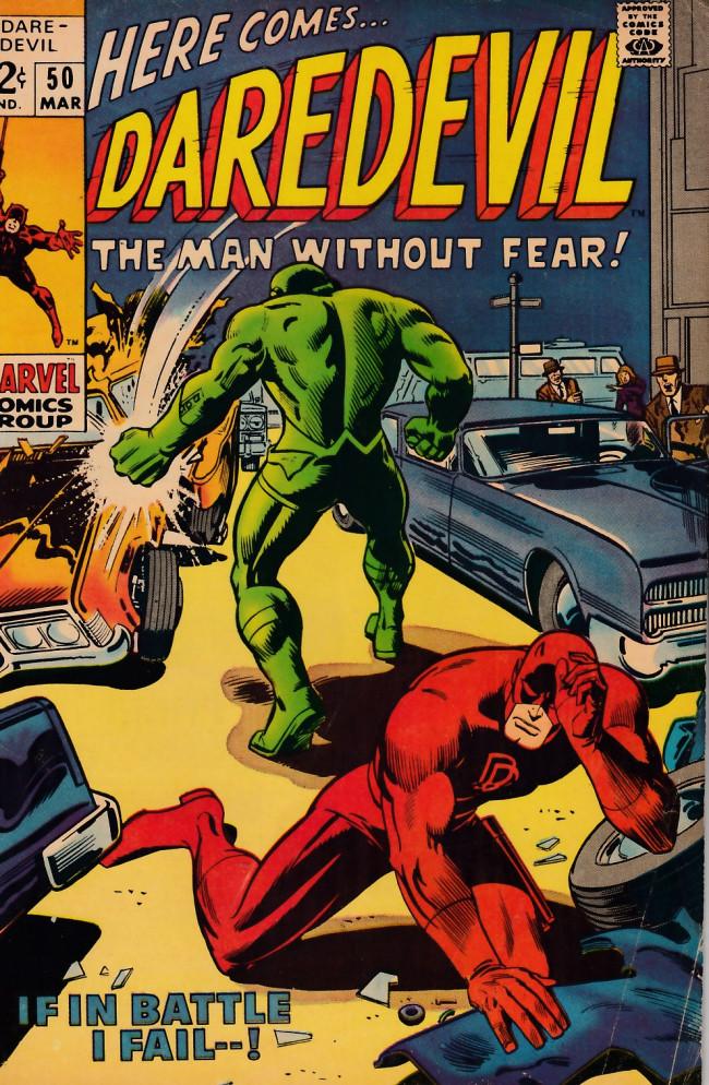 Couverture de Daredevil Vol. 1 (Marvel - 1964) -50- If in Battle I Fail...!