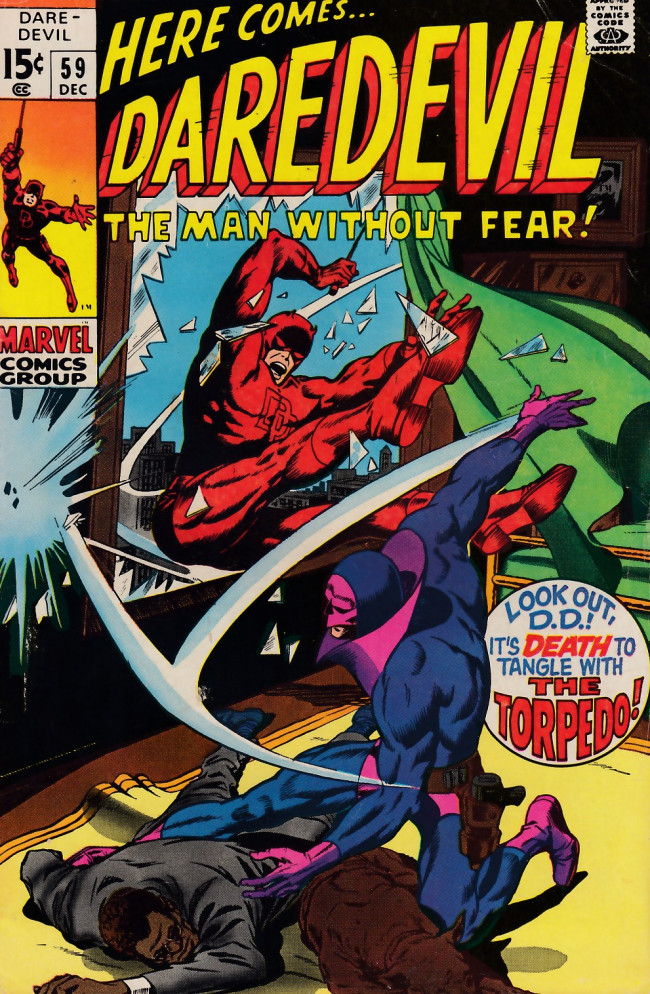 Couverture de Daredevil (1964) -59- The torpedo will get you if you don't watch out