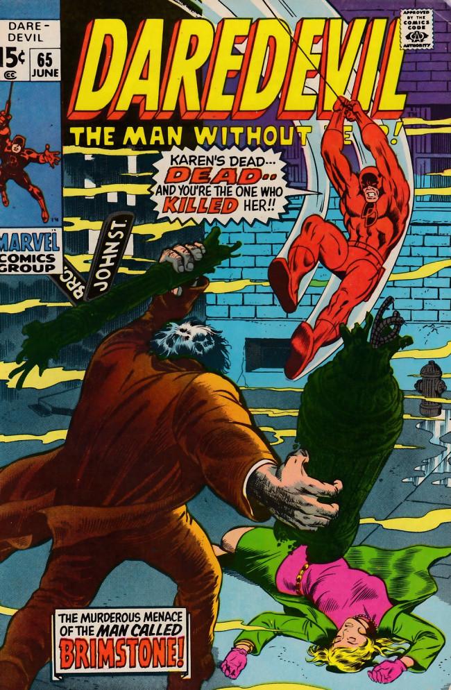 Couverture de Daredevil Vol. 1 (Marvel - 1964) -65- The killing of brother Brimstone