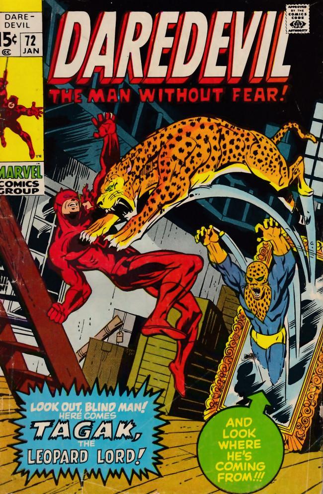 Couverture de Daredevil Vol. 1 (Marvel - 1964) -72- Lo! The Lord of the Leopards!