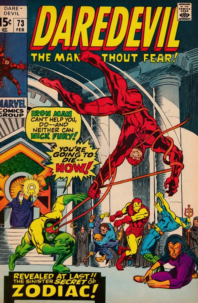 Couverture de Daredevil Vol. 1 (Marvel - 1964) -73- Behold... The Brotherhood!