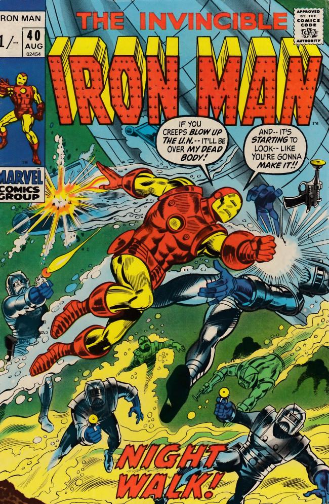 Couverture de Iron Man Vol.1 (Marvel comics - 1968) -40- Night walk