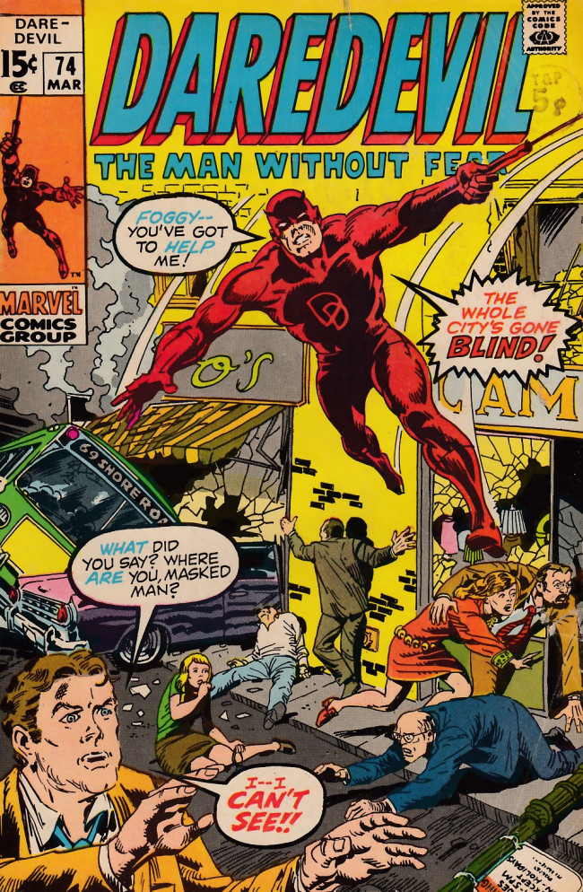 Couverture de Daredevil (1964) -74- In the country of the blind
