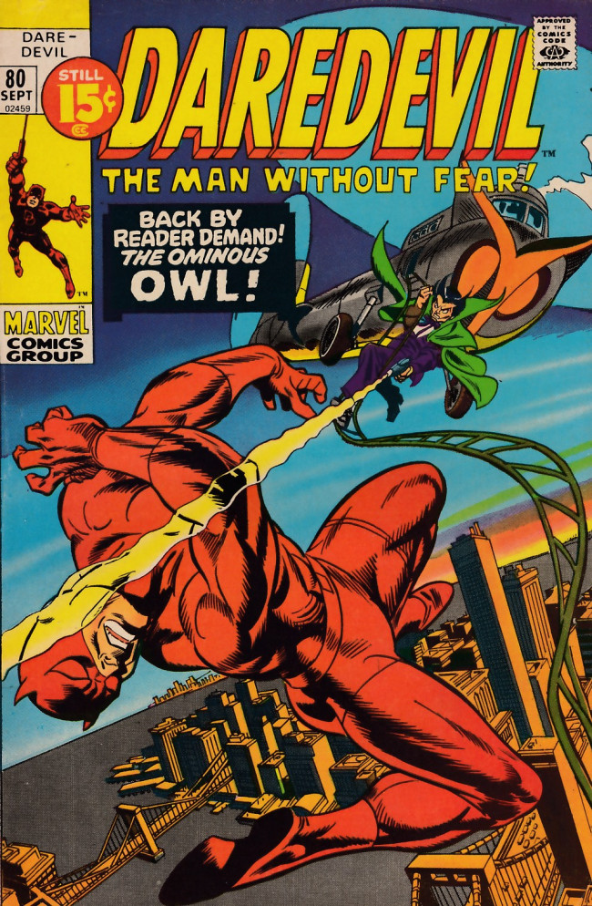 Couverture de Daredevil Vol. 1 (Marvel - 1964) -80- In the eyes of the Owl