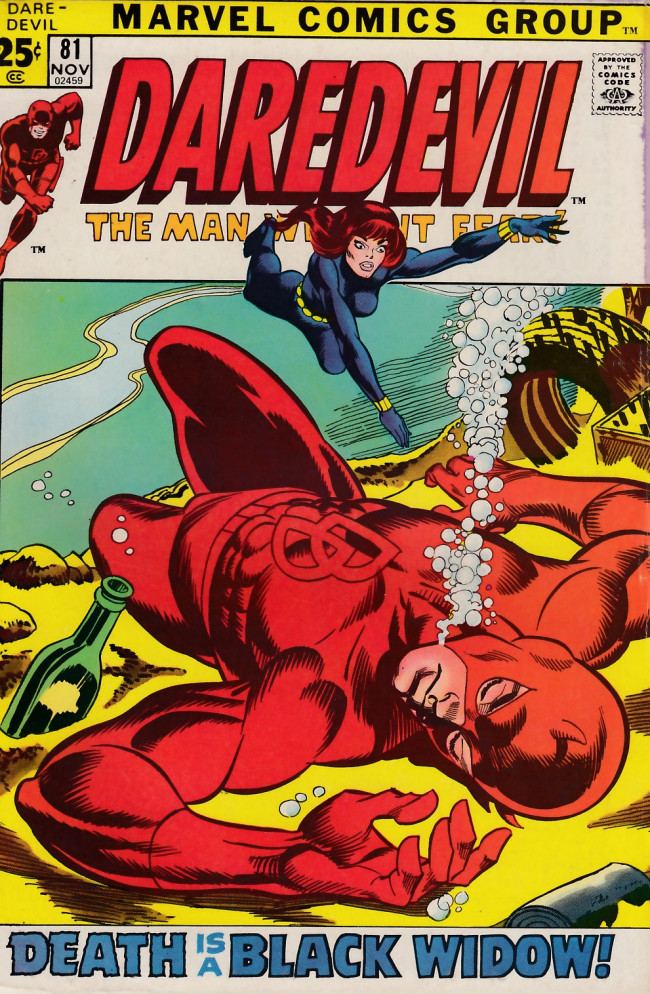 Couverture de Daredevil Vol. 1 (Marvel - 1964) -81- And Death is a woman called Widow