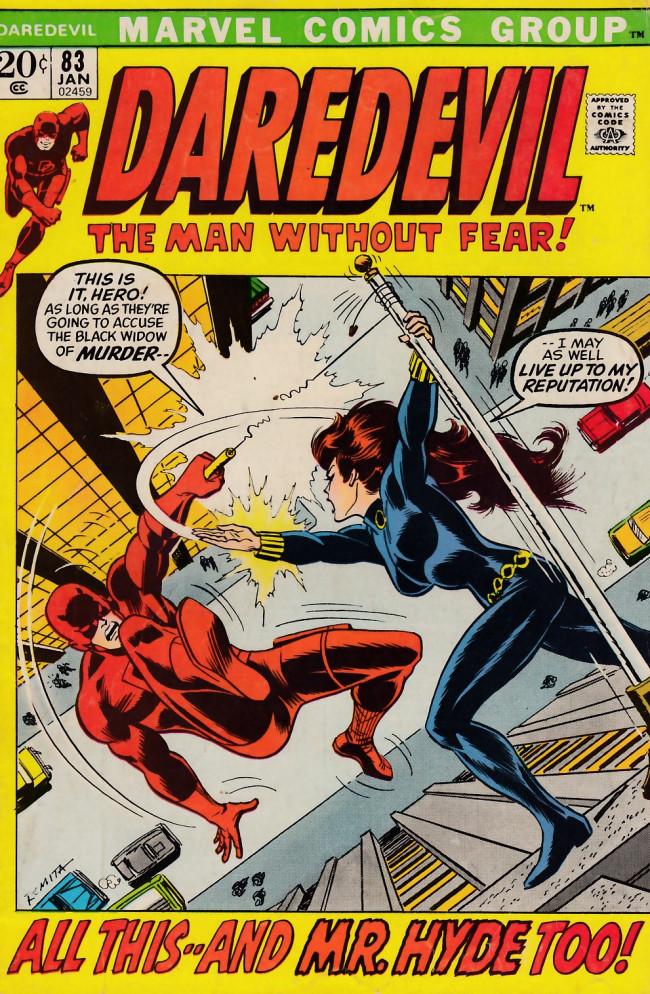 Couverture de Daredevil Vol. 1 (Marvel - 1964) -83- The Widow accused