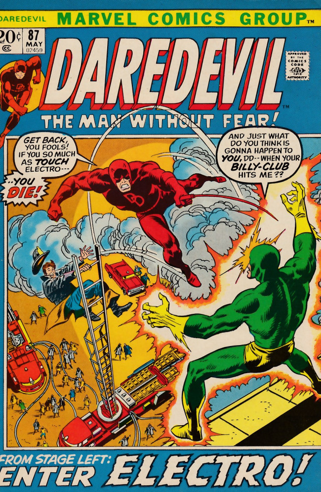 Couverture de Daredevil (1964) -87- From stage left, enter Electro