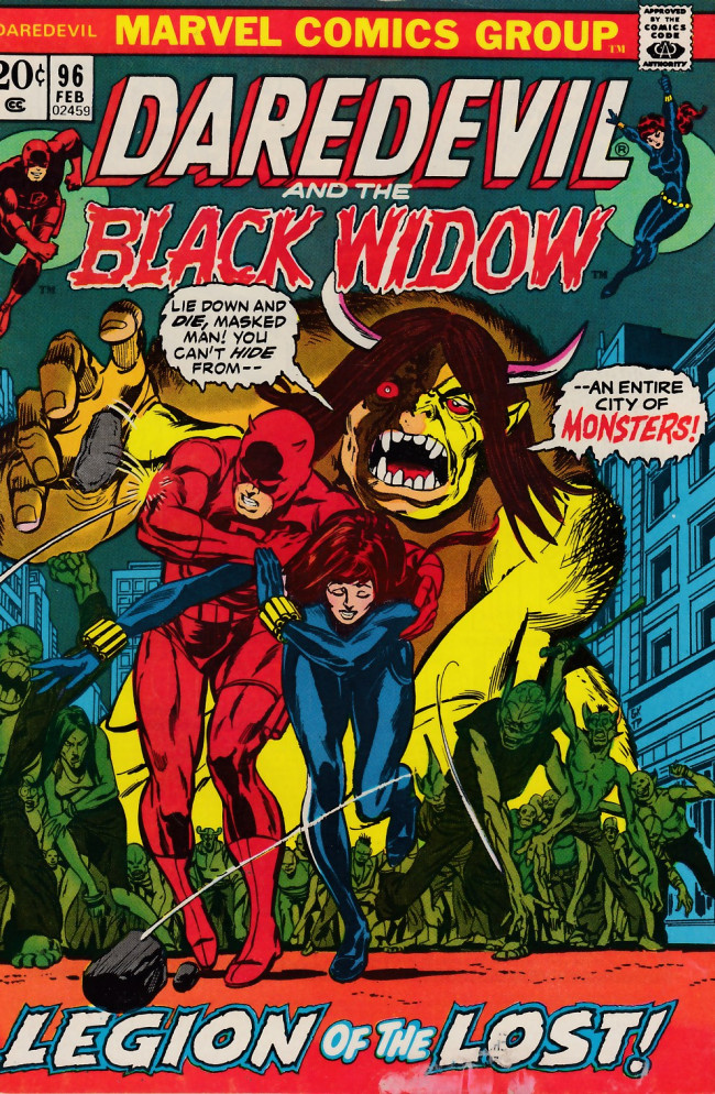 Couverture de Daredevil (1964) -96- Te Widow will make you pay!