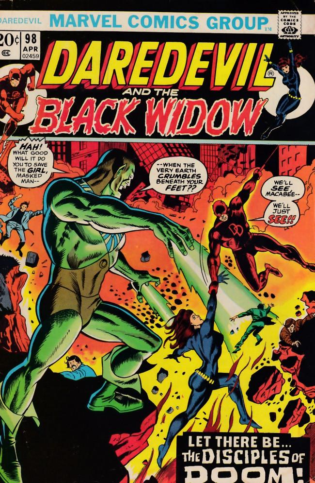 Couverture de Daredevil Vol. 1 (Marvel - 1964) -98- Let there be death