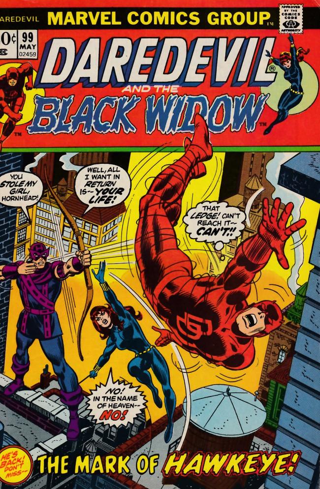 Couverture de Daredevil (1964) -99- The mark of Hawkeye