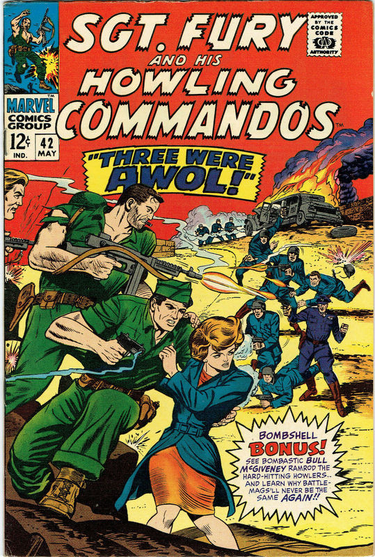 Couverture de Sgt. Fury and his Howling Commandos (Marvel - 1963) -42-