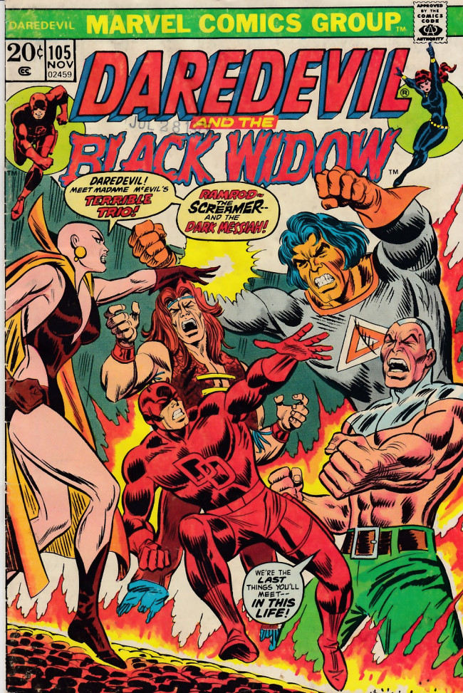 Couverture de Daredevil Vol. 1 (Marvel - 1964) -105- Menace from the moons of Saturn