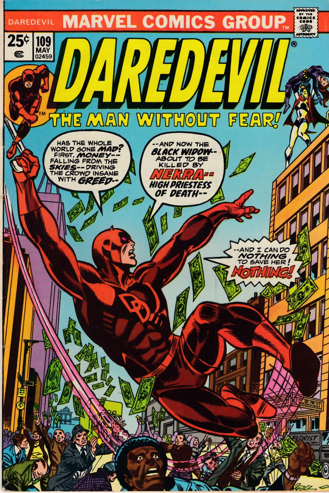 Couverture de Daredevil Vol. 1 (Marvel - 1964) -109- Dying for dollars