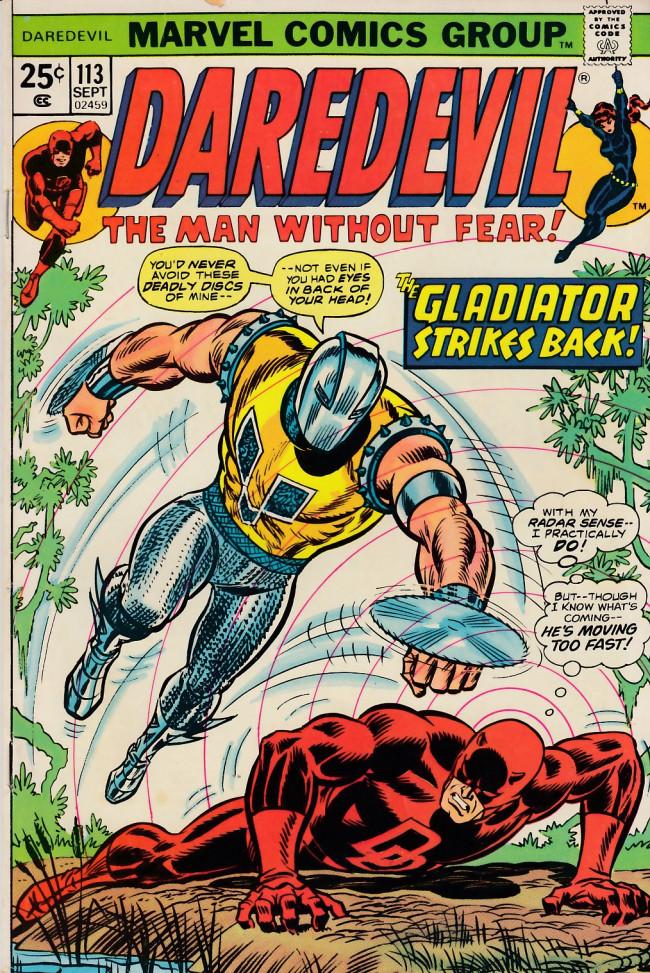 Couverture de Daredevil Vol. 1 (Marvel - 1964) -113- When strikes the Gladiator