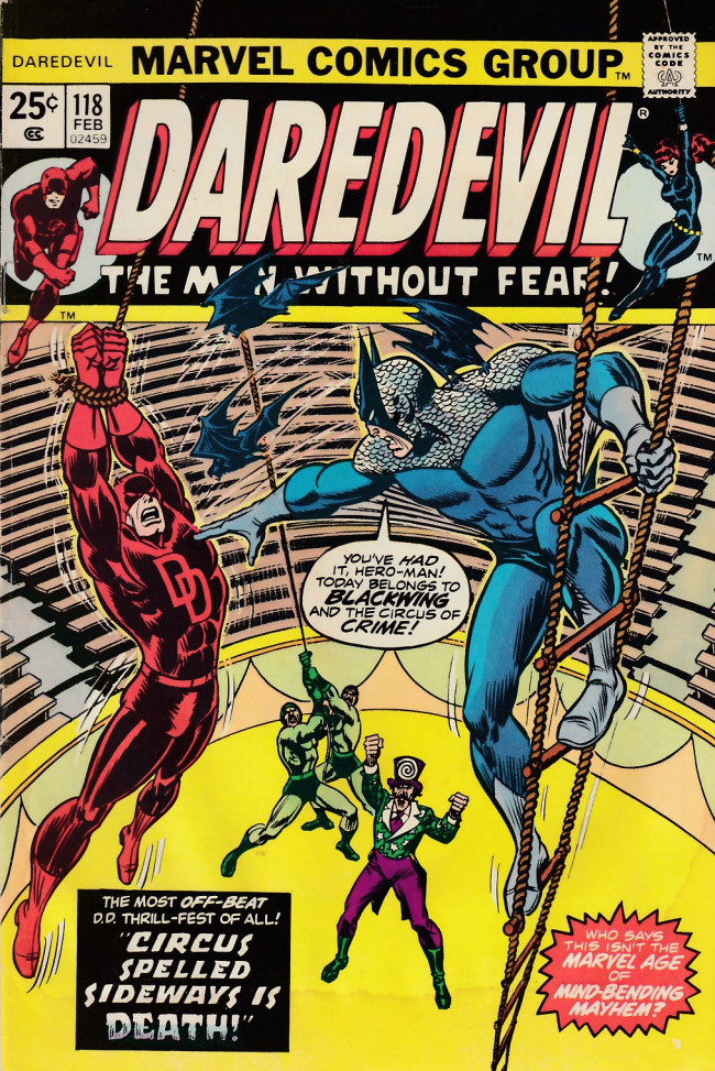 Couverture de Daredevil Vol. 1 (Marvel - 1964) -118- Circus spelled sideways is death