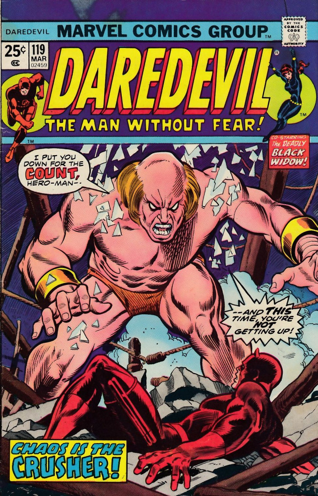Couverture de Daredevil Vol. 1 (Marvel - 1964) -119- They're tearing down Fogwell's gym