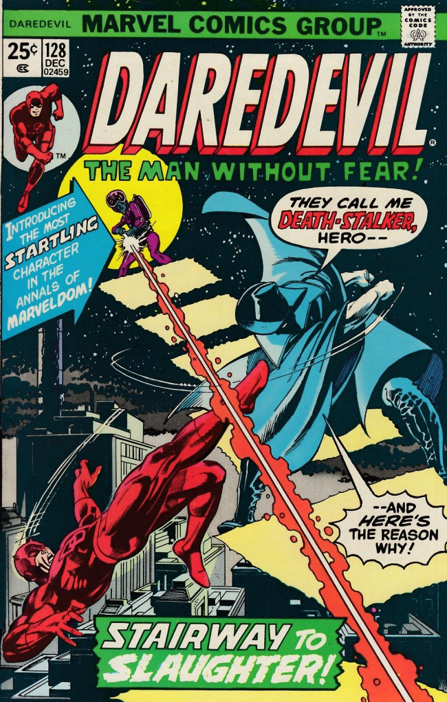 Couverture de Daredevil Vol. 1 (Marvel - 1964) -128- Death stalks the stairway to the stars