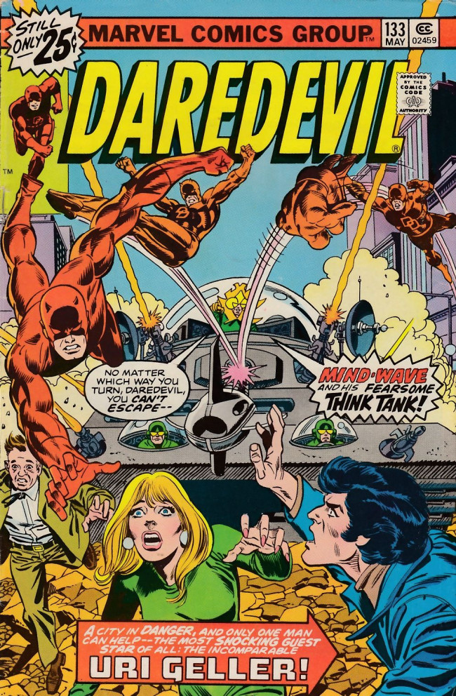 Couverture de Daredevil (1964) -133- Introducing: Mind-Wave and His Fearsome Think Tank!