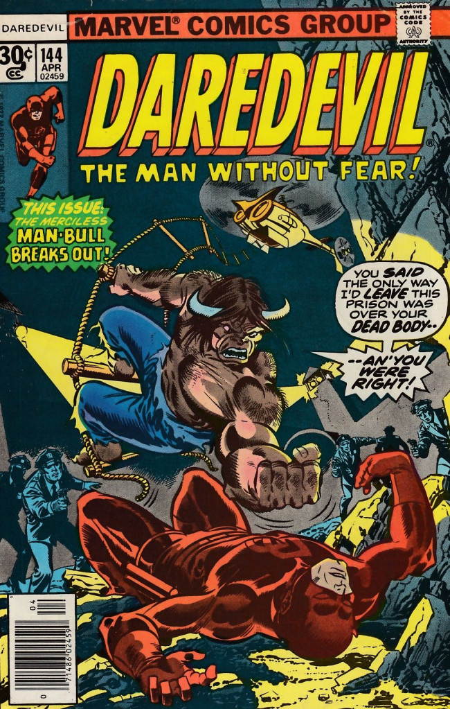 Couverture de Daredevil (1964) -144- Man-bull means mayhem