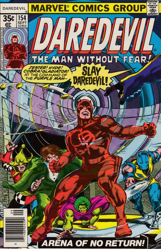 Couverture de Daredevil Vol. 1 (Marvel - 1964) -154- Arena