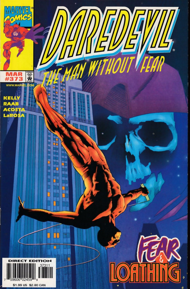 Couverture de Daredevil Vol. 1 (Marvel - 1964) -373- Weight of the world