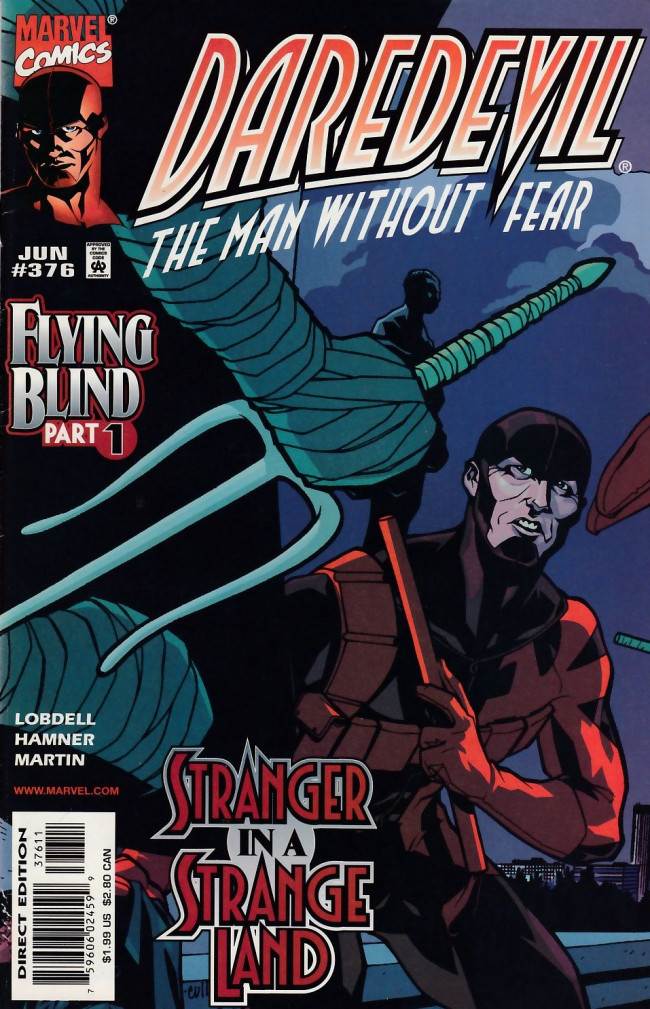 Couverture de Daredevil (1964) -376- Flying blind part 1