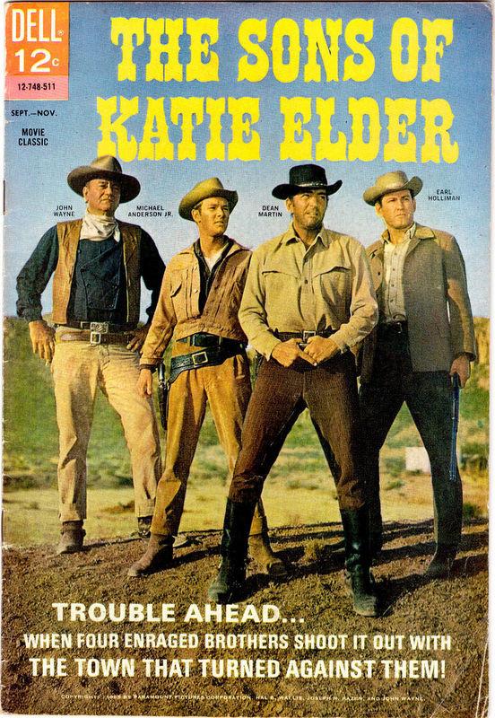 Couverture de Movie Classics (Dell - 1962) -748- The Sons of Katie Elder