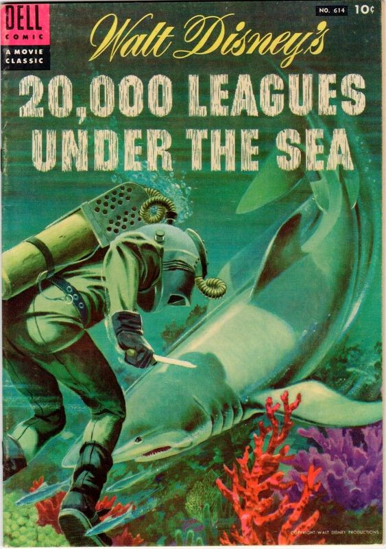 Couverture de Four Color Comics (Dell - 1942) -614- Walt Disney's 20,000 Leagues Under the Sea