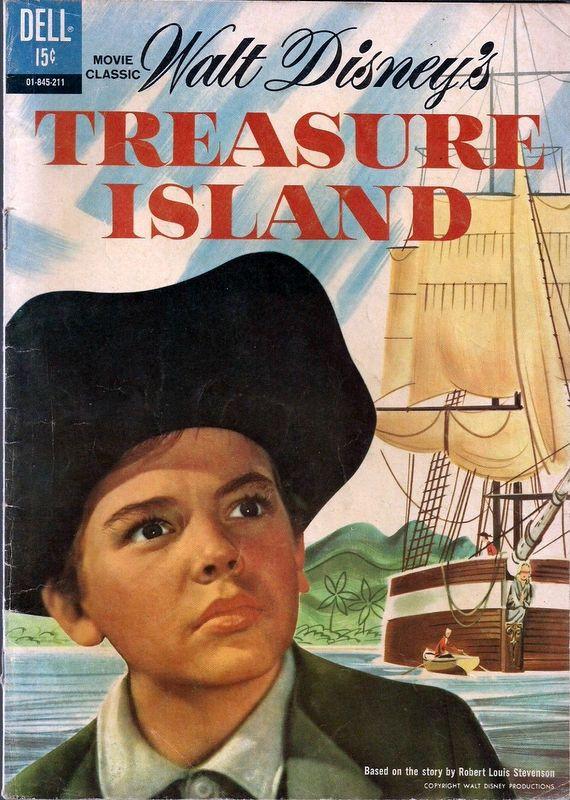 Couverture de Four Color Comics (Dell - 1942) -624- Walt Disney's Treasure Island