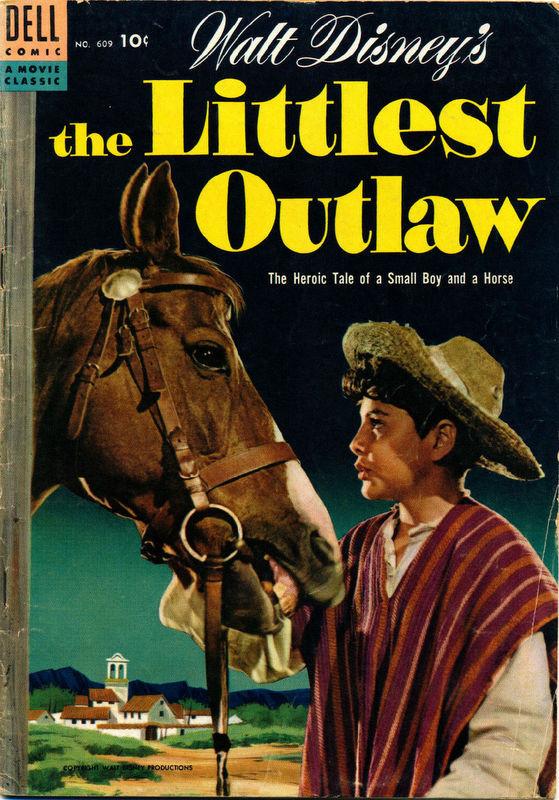 Couverture de Four Color Comics (Dell - 1942) -609- Walt Disney's The Littlest Outlaw