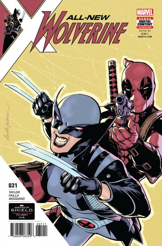 Couverture de All-New Wolverine (2016) -31- Honey Badger & Deadpool