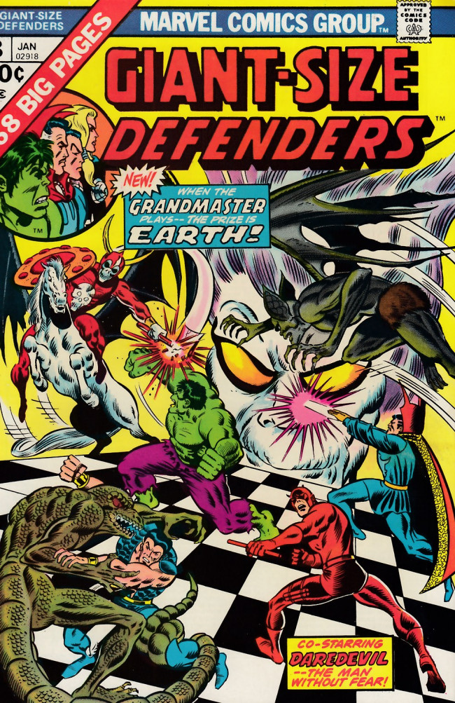 Couverture de Giant-Size defenders (1974) -3- Game godlings play