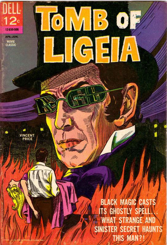 Couverture de Movie Classics (Dell - 1962) -830- Tomb of Ligeia