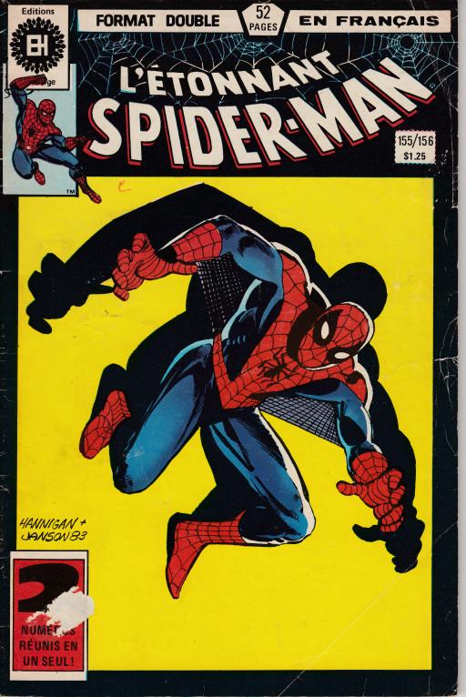 Couverture de L'Étonnant Spider-Man (Éditions Héritage) -155156- Héros et truands