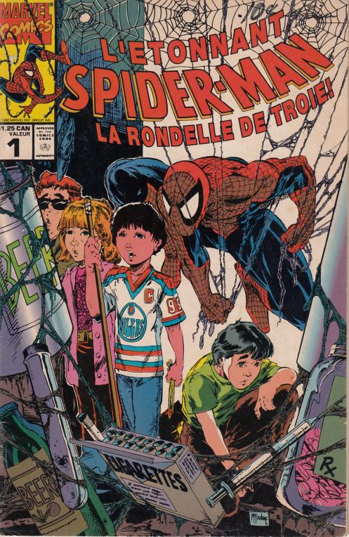 Couverture de L'Étonnant Spider-Man (1990) -1- La rondelle de Troie