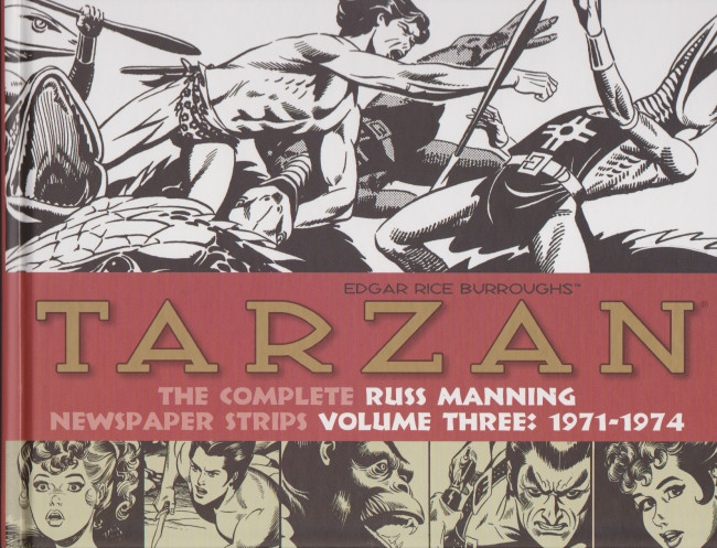 Couverture de Tarzan: The Complete Russ Manning Newspaper Strips (2013) -3- Volume Three: 1971-1974
