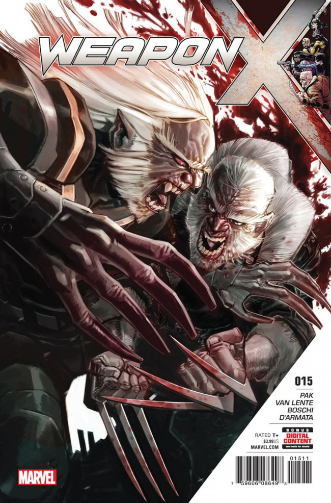 Couverture de Weapon X (2017) -15- Happy Birthday, Old Man Logan: Part One - Blow up the Candles
