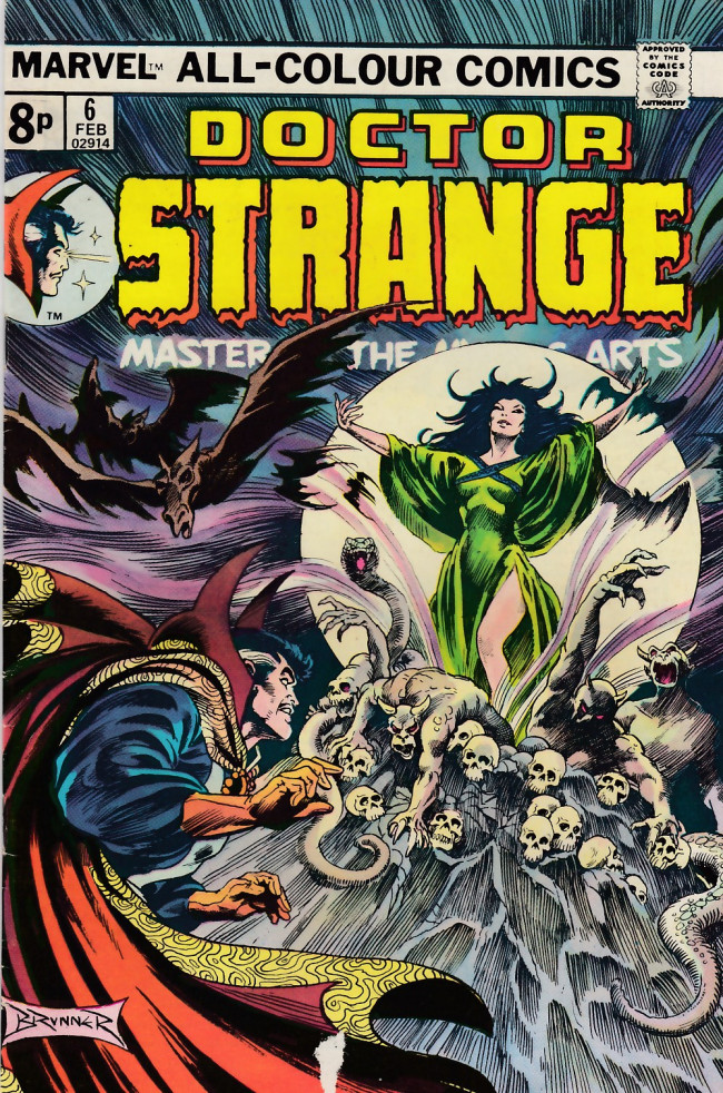 Couverture de Doctor Strange (1974) -6UK- Lift high the veil of fears