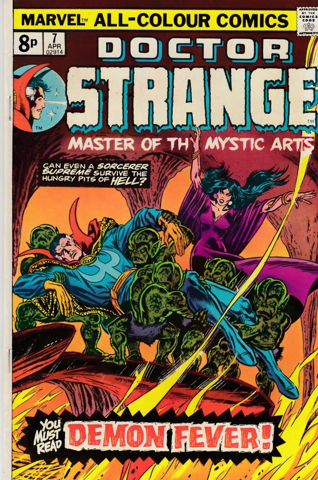 Couverture de Doctor Strange (1974) -7UK- The demon fever