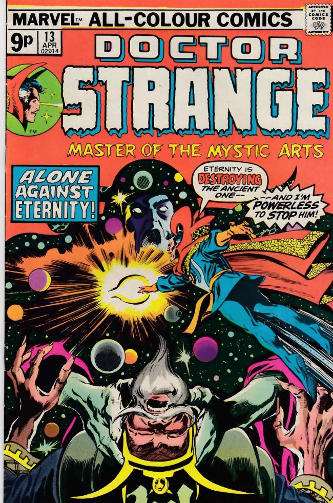 Couverture de Doctor Strange (1974) -13UK- Planet earth is no more