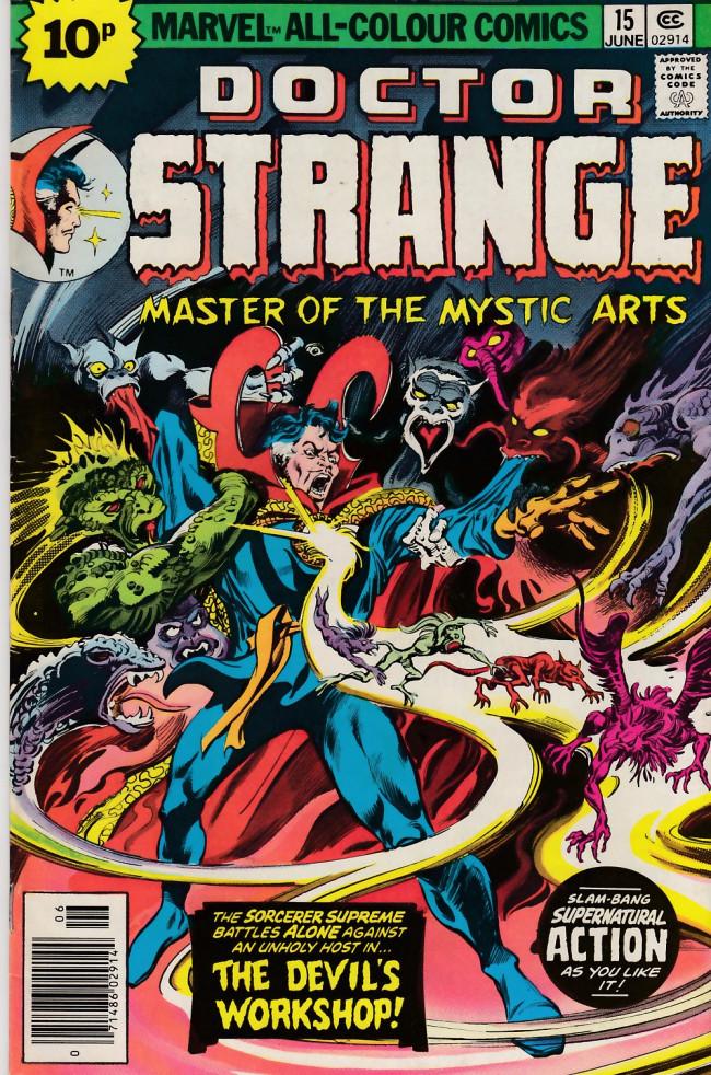 Couverture de Doctor Strange (1974) -15UK- Where there's smoke...