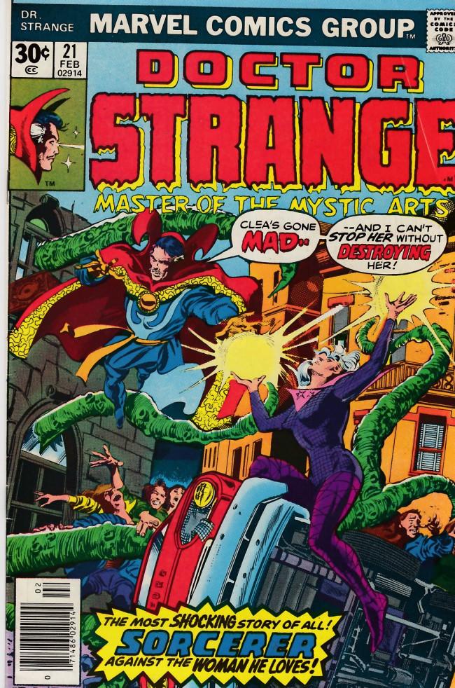 Couverture de Doctor Strange (1974) -21- The coming of Dr. Strange