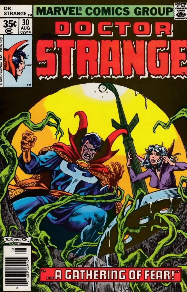 Couverture de Doctor Strange (1974) -30- A gathering of fear