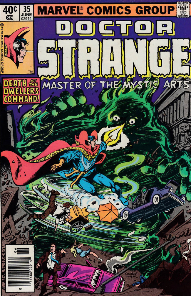 Couverture de Doctor Strange (1974) -35- Of knights and pawns