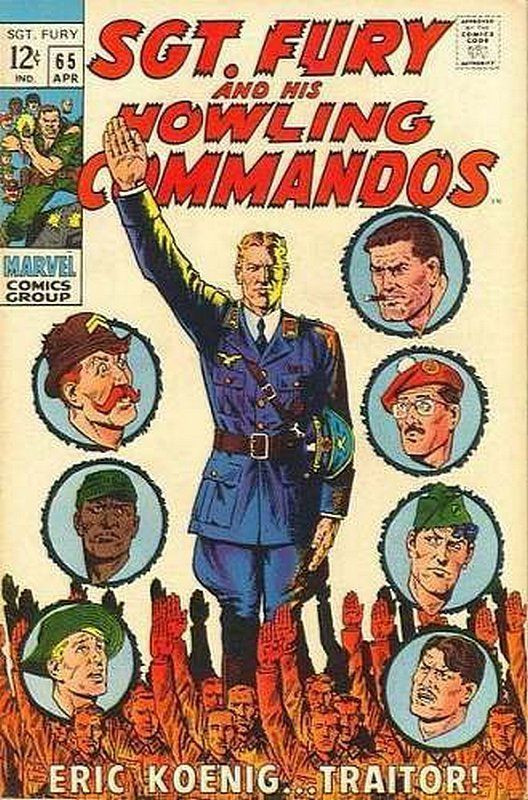 Couverture de Sgt. Fury and his Howling Commandos (Marvel - 1963) -65- Eric Koenig... traitor !